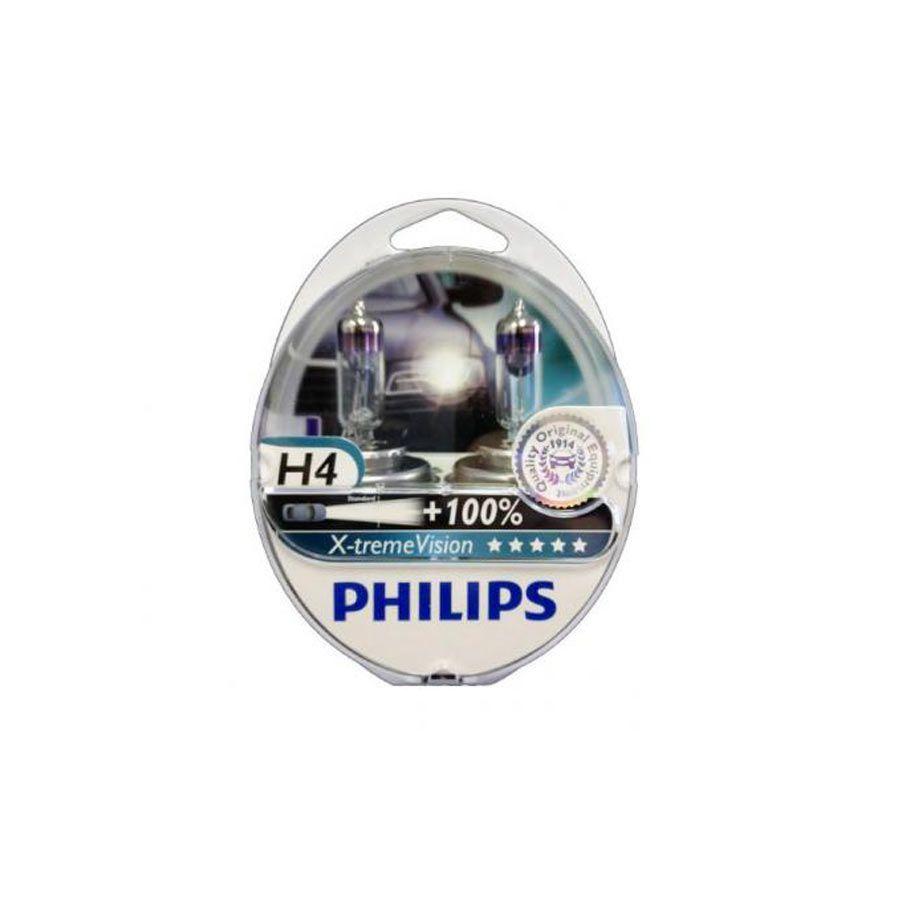 Lâmpada H4 Xtreme Vision Philips 130% mais luz