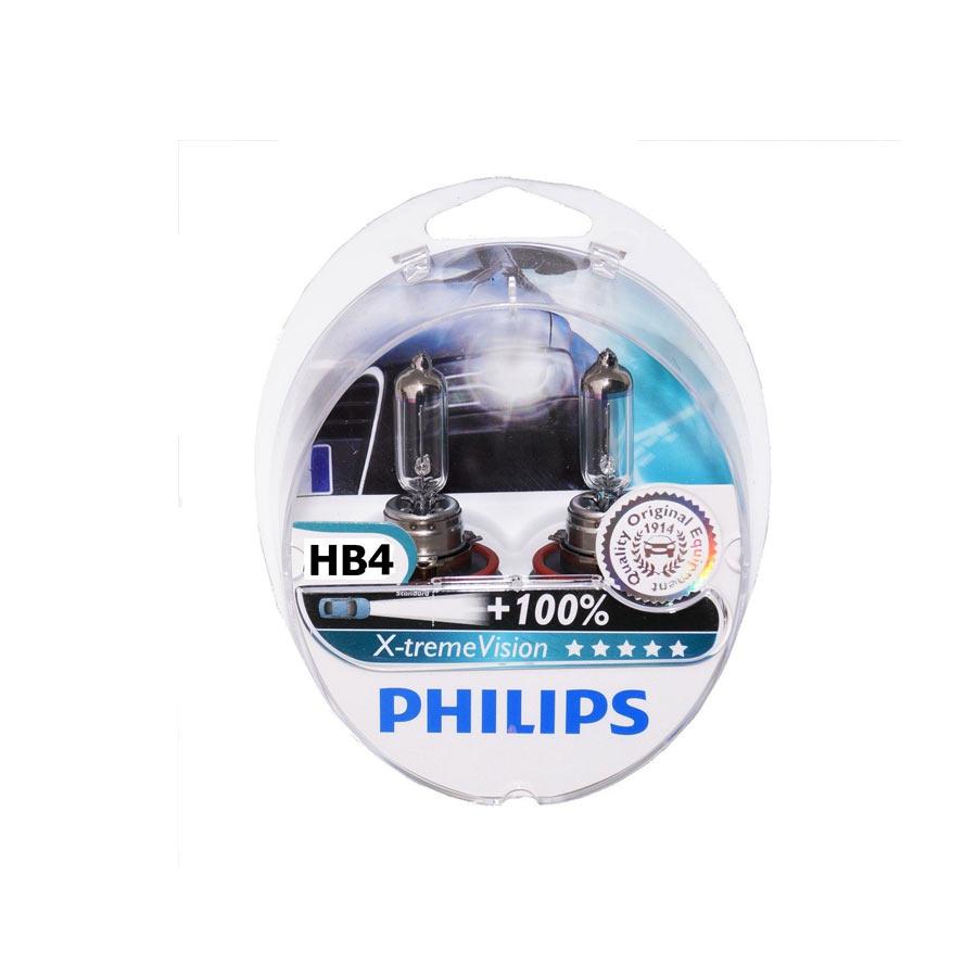 Lâmpada HB4 Xtreme Vision Philips 100% mais luz