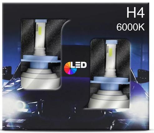 Lâmpadas LED Farol Ford Pampa H4 6000k