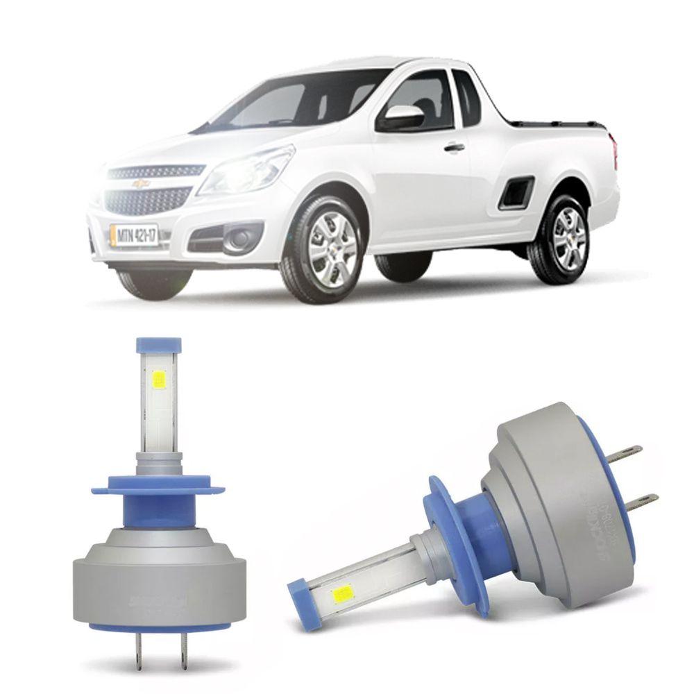 Lâmpadas LED H7 6000k Farol Baixo GM Montana 2004-2015