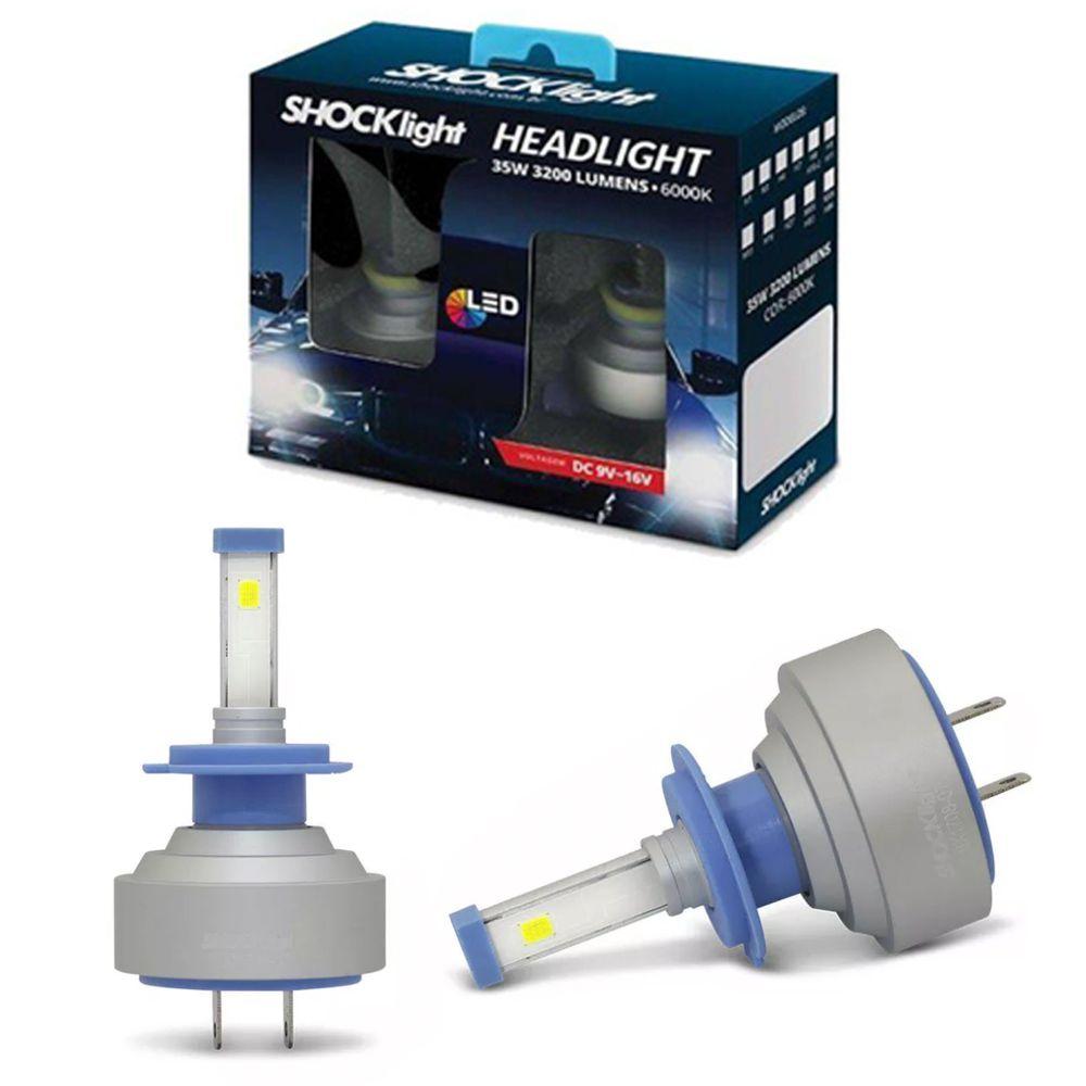 Lâmpadas LED H7 6000k Farol Baixo GM Vectra 2008-2013