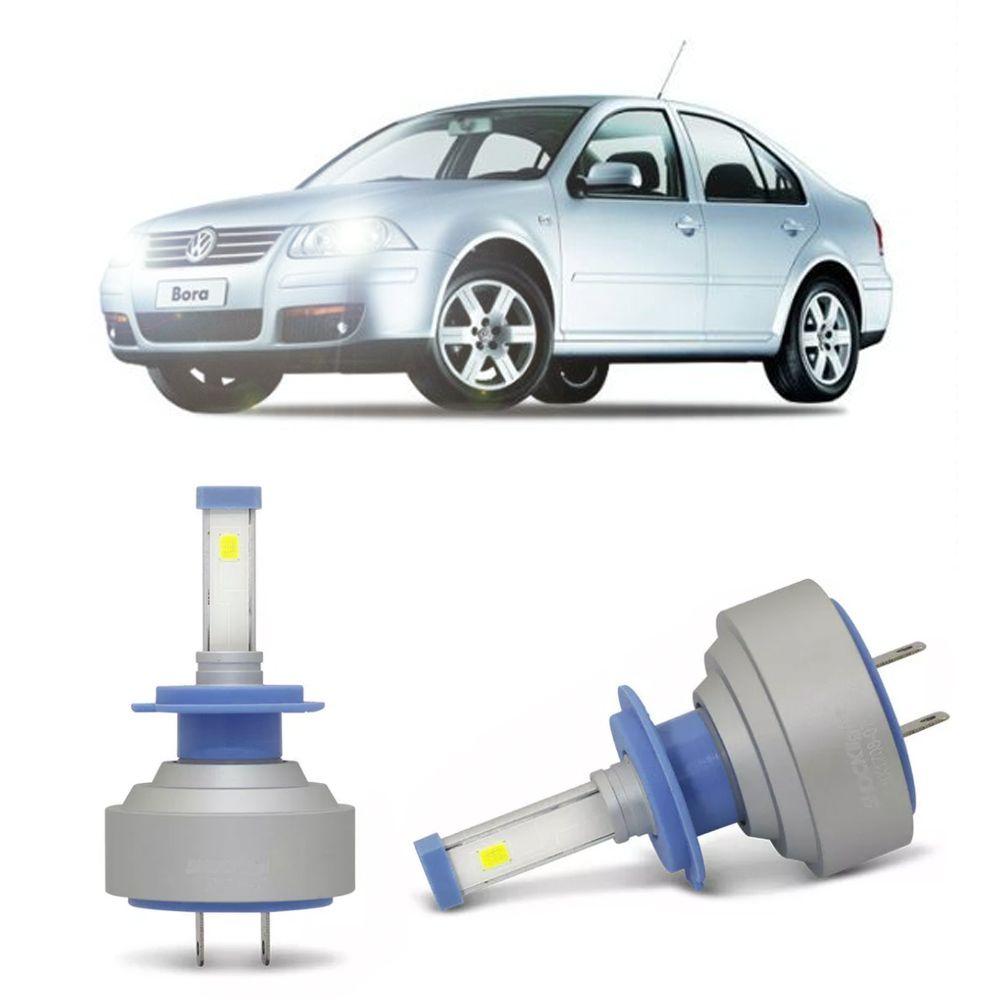 Lâmpadas LED H7 6000k Farol Baixo Volkswagen Bora 1999-2011