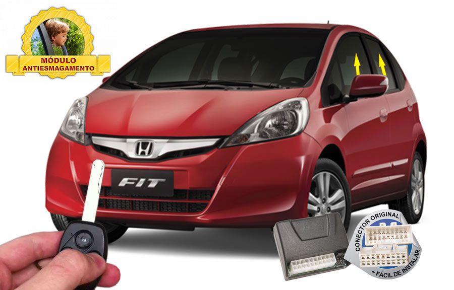 Módulo Subida Vidros Antiesmagamento Honda Fit até 2013 Tury Conector Original