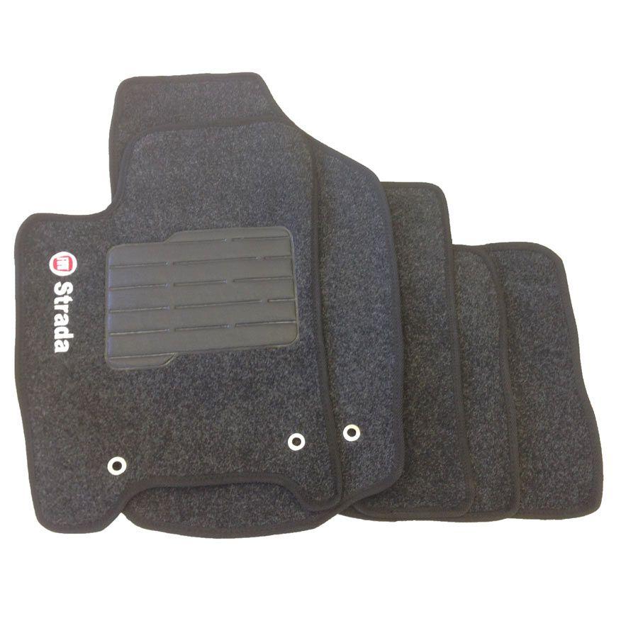 Tapete de Carpete Fiat Strada 2013 14 15 16 Cab. Dupla Personalizado