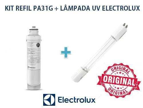 Refil Electrolux + Lampada Uv Para Purificador Pa31g Oferta  - Pensou Filtros
