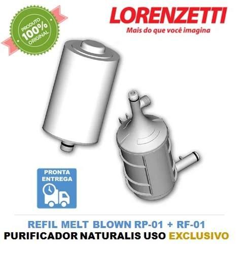 Conjunto Refil Naturalis Lorenzetti RF-01 RP-01 Original  - Pensou Filtros