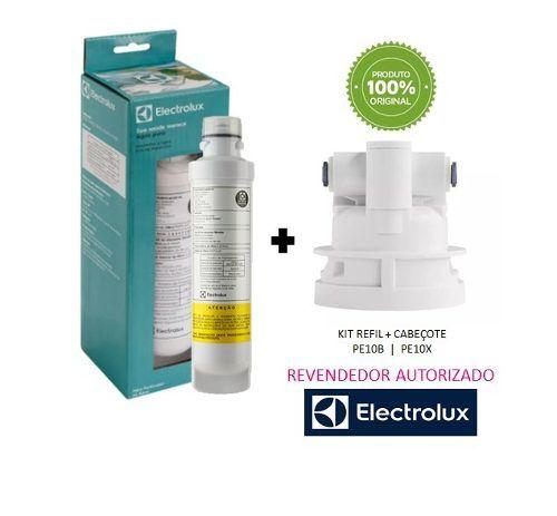 Refil Filtro Electrolux Pe10b Pe10x + Cabeçote Original  - Pensou Filtros