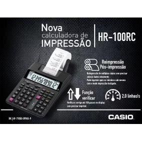 ml- Calculadora Mesa Casio Bobina Impressão 12 Digitos Hr100rc Anúncio com variação  - Pensou Filtros