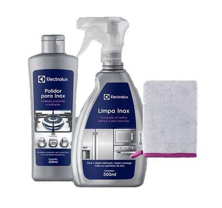 - Kit Electrolux Limpa Inox + 1 Luva Polimento + Polidor Inox  - Pensou Filtros