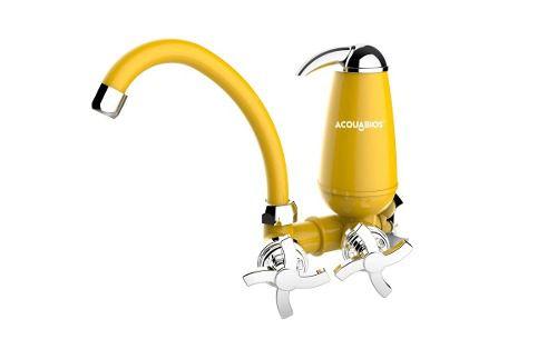 ML- Filtro Torneira Bica Móvel Acqua E05 Colors Amarelo Cr  - Pensou Filtros