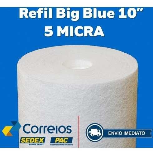 Refil Polipropileno Big Blue 10 Polegadas 5 Micra  - Pensou Filtros
