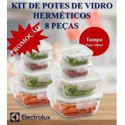 KIT DE POTES DE VIDRO ELECTROLUX - 8 PEÇAS