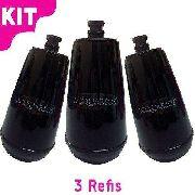 Refil Para Filtro Acquabios E05 Preto Kit Com 3 Unidades