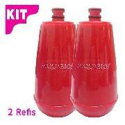 02 Unid. Refil Para Filtro Acquabios E05 Vermelho