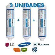3 UNIDADES REFIL DE GELADEIRA HIDRONYX