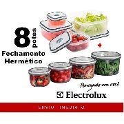4 POTES DE PLÁSTICO REDONDO + 4 POTES DE PLÁSTICO QUADRADO ORIGINAL ELECTROLUX