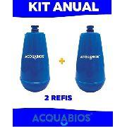 02 Unid. Refil Filtro Para Acquabios E05 Azul BIC
