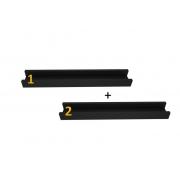 2 Prateleiras para quadros 60cm preto
