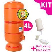Filtro de Barro São João 4 litros - KIT bóia e vela esterilizante