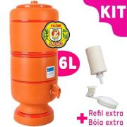 Filtro de Barro São João 6 litros - KIT vela esterilizante + bóia