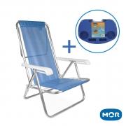Cadeira de Praia Mor 8 Posições + Mesa Portátil