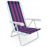 Cadeira Praia Reclinável 4 Posições Aço Mor Capacidade 100kg