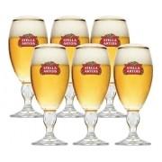 Conjunto 6 Taças Cálices Stella Artois 250ml - CAIXA PAPEL KRAFT