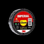 Fita Isolante Imperial - 3M Preta - 18mm x 10mm x 0,13 mm de espessura