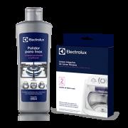 Kit Limpeza Electrolux - Polidor para Inox + Limpa Máquina de Lavar