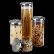 Kit Potes de Vidro Porta Mantimentos Herméticos Electrolux - 4 Unidades-ML