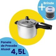 Panela de Pressão Alusol 4,5L + Desodorizador