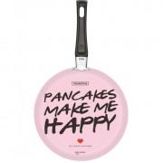 Panquequeira Tramontina My Lovely Kitchen em Alumínio Rosa com Revestimento Interno Antiaderente