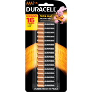 Pilha Duracell AAA - Kit com 16 Unidades