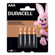 Pilhas Duracell Duralock Alcalina Aaa Embalagem C/4 Unids