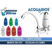 - Torneira Com Filtro Acquabios + 02 Refis Escolha A Cor
