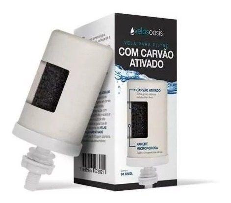 KIT 12 VELAS OASIS - CARVÃO ATIVADO  - Pensou Filtros