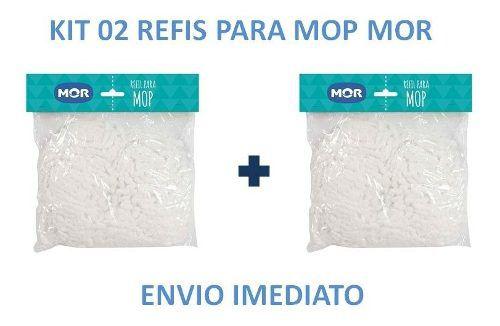 Refil Para Esfregão Vassoura Mop Limpeza Pratica Mor 2 Unid  - Pensou Filtros