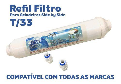 REFIL DE GELADEIRA T/33 + CONECTORES  - Pensou Filtros