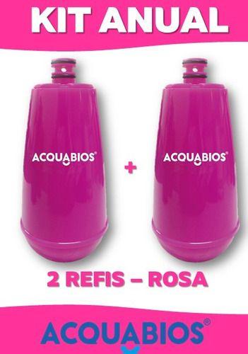 refil torneira acquabios rosa - 2 unidades  - Pensou Filtros