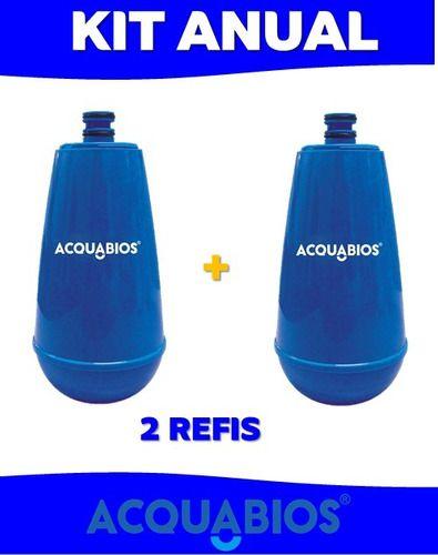02 Unid. Refil Filtro Para Acquabios E05 Azul BIC  - Pensou Filtros