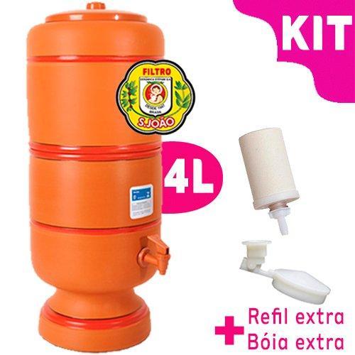 Filtro de Barro São João 4 litros - KIT bóia e vela esterilizante  - Pensou Filtros