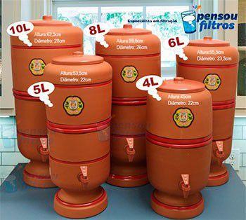 Filtro de Barro São João 6 litros - KIT vela esterilizante + bóia  - Pensou Filtros