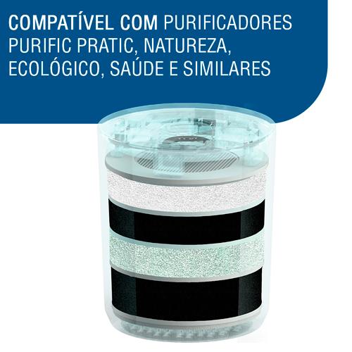 Filtro Refil Purific Mineral Similar - Purik Etapas   - Pensou Filtros