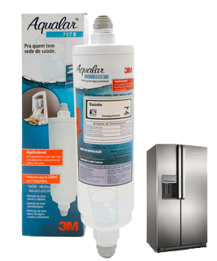 Filtro Água Externo Aqualar 3M 717B para Geladeira Side By Side  - Pensou Filtros