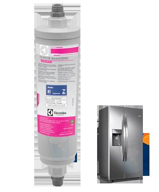 Filtro de água Externo para Refrigeradores Electrolux Side By Side - ORIGINAL  - Pensou Filtros