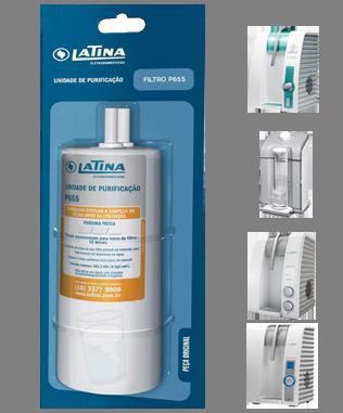 Refil P655 Latina para os Purificadores PN535, PA731, PA735, VITAMAX, PURIFIVE (original)  - Pensou Filtros