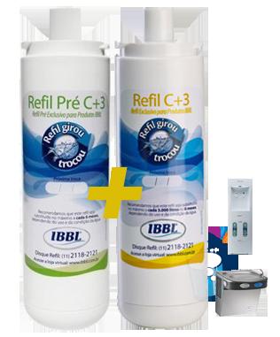 Refil C+3 e Pré-C+3 para purificadores IBBL  - Pensou Filtros