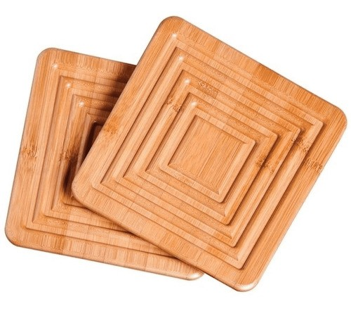 Apoio De Panela Em Madeira Bamboo Com 2 Pçs Mor  - Pensou Filtros