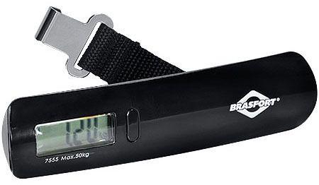 Balança Digital para Bagagem 50Kg Preto BRASFORT   - Pensou Filtros