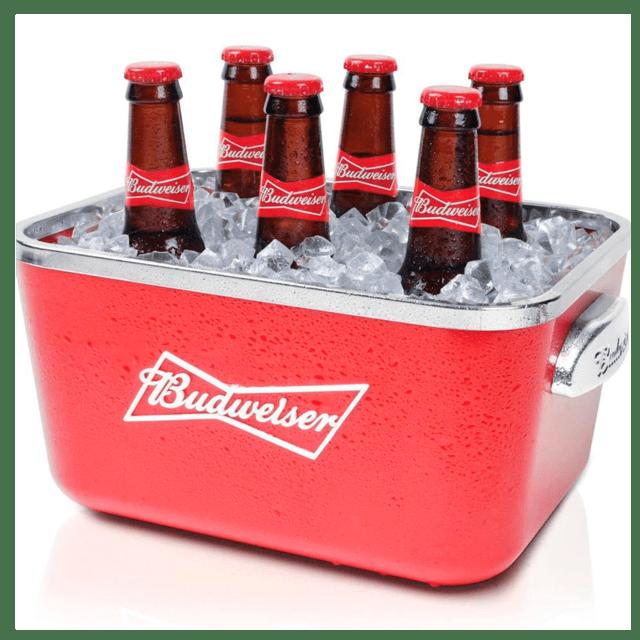 Balde De Gelo Budweiser 5 Litros Com Alça  - Pensou Filtros